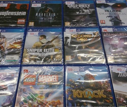 Grand choix de jeux PS4